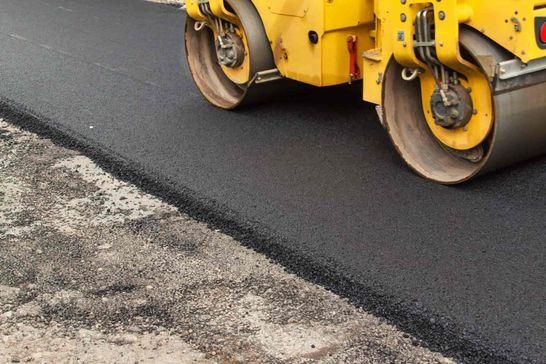 new asphalt paving